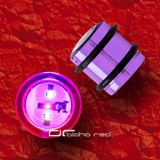»»» BLINKING LED OHR PLUG PIERCING TITAN 12-16mm violett 1022